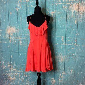 Loveriche Sleeveless Ruffled Open Back Dress